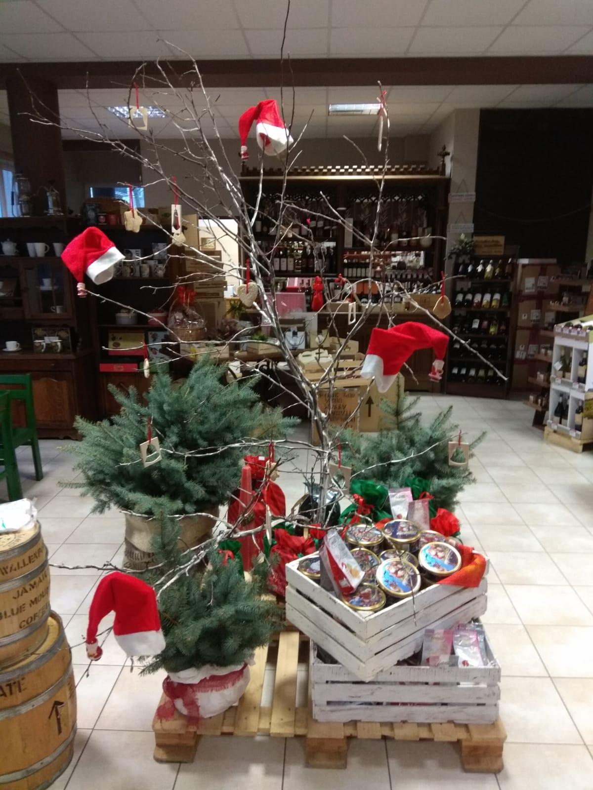 Świąteczny wystrój sklepu